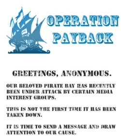 Operation Payback - DDoS возмездие от Anonymous