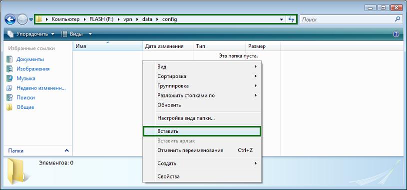 6. Переходим в папку /vpn/data/config и вставляем туда скопированные файлы